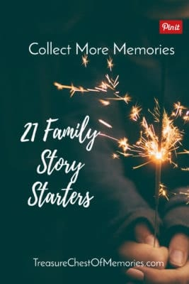Family Story Starters pinnable graphic
