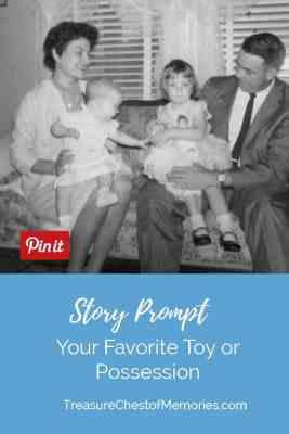 Favorite Toy illustration. Family photograph, copyright E. Wilkinson 1962