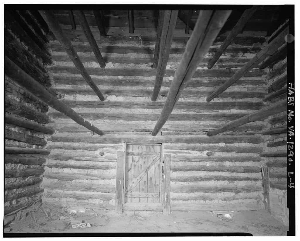 historical image of the interior of a tobacco barn Hali