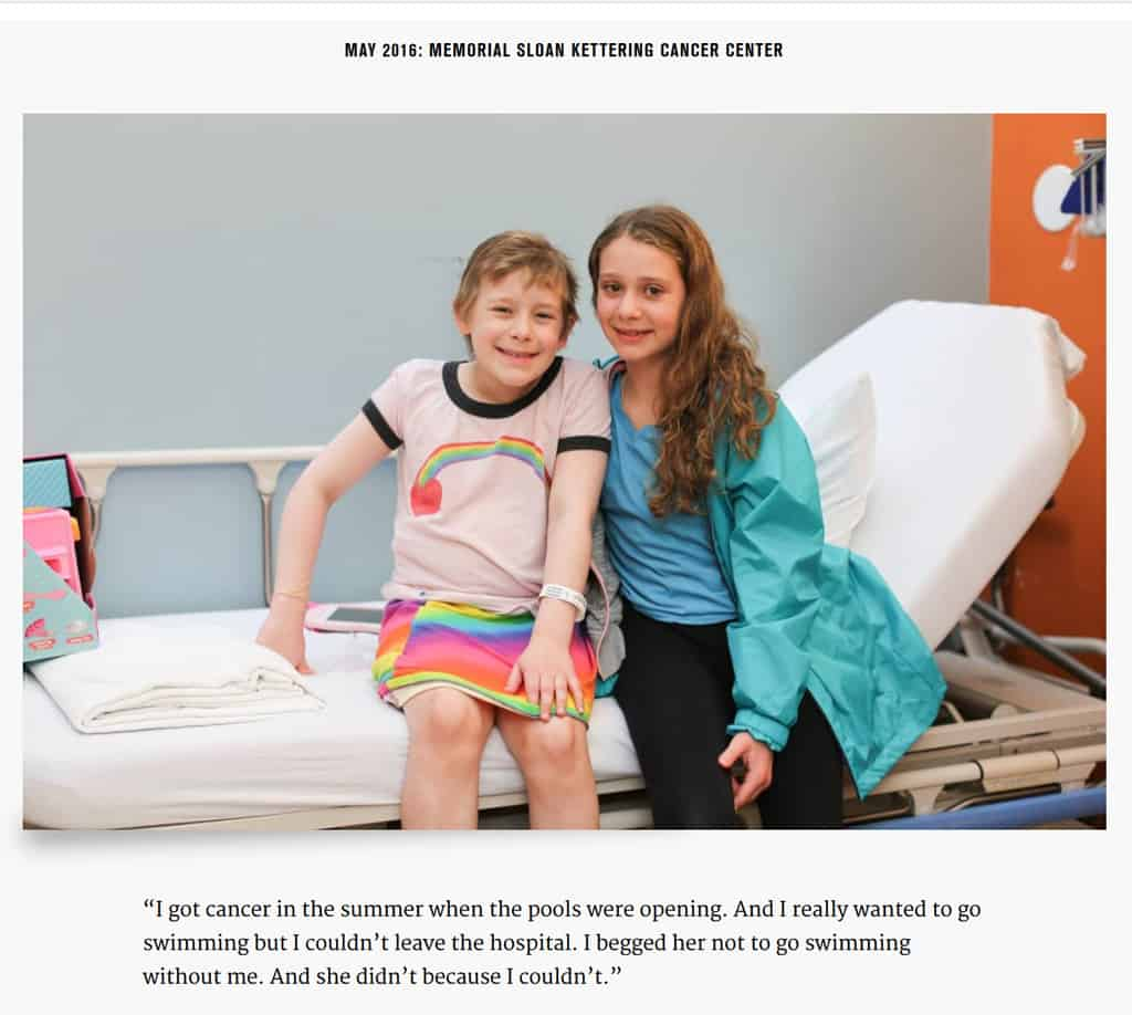 A meaningful stories from pediatric cancer patients