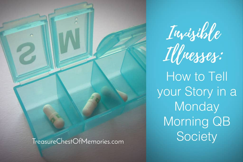 Invisible Illness with pill organizer
