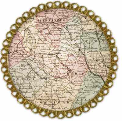 Map Pendant Craft Using Maps example