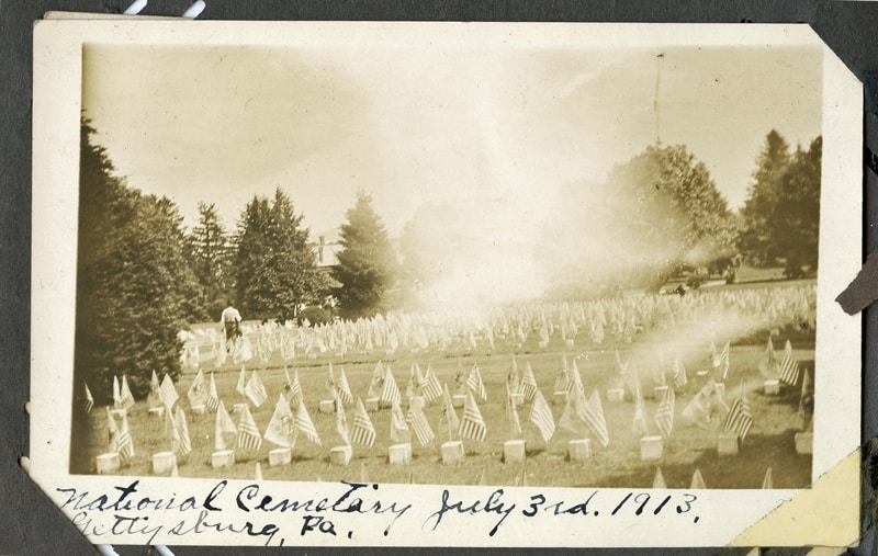 National cemetery at the 1913 Gettysburg Reunion