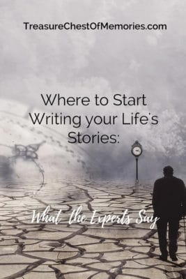 Starting Life Stories Expert's advice pinnable graphic