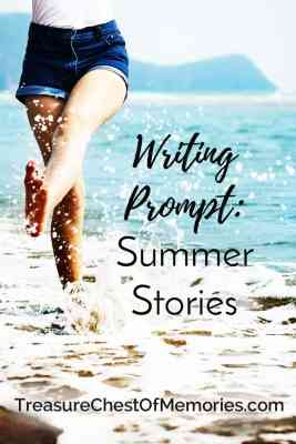 Writing Prompt Summer Stories pinnable graphic