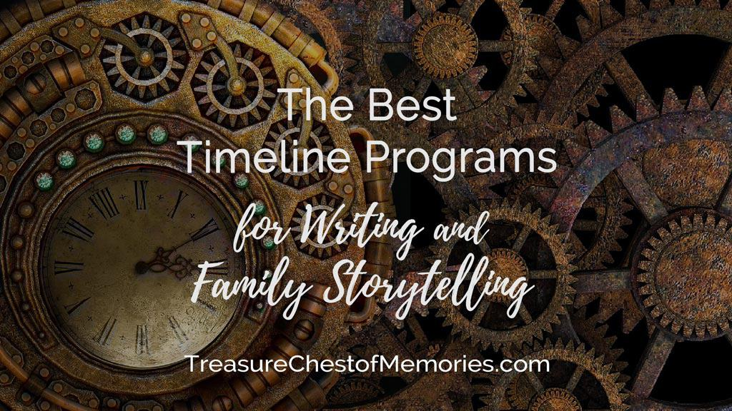 The best timeline programs Headline graphic with steampunk clocks