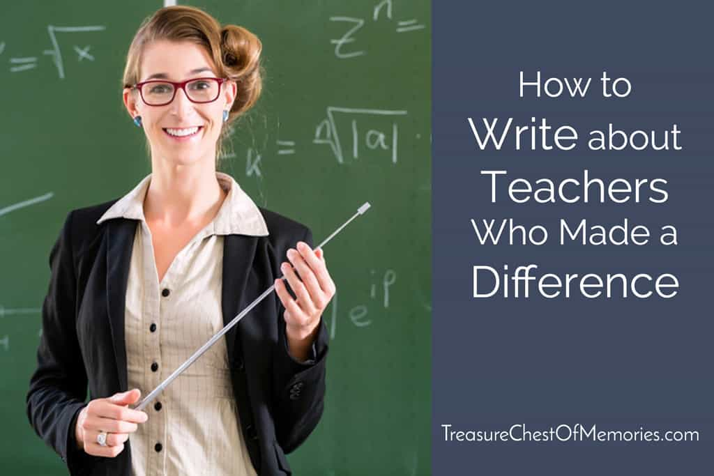 Teachers Who Made A Difference Graphic