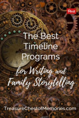 The best timeline programs Headline graphic with steampunk clocks pinnable
