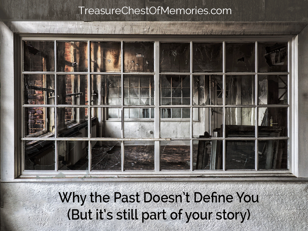 Why the past doesn't define you looking through a window at delapitated room
