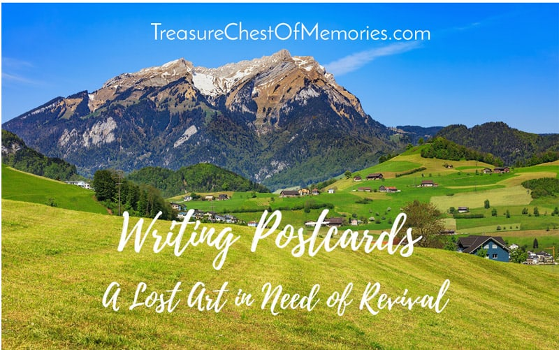 Writing Postcards A lost Art Graphic