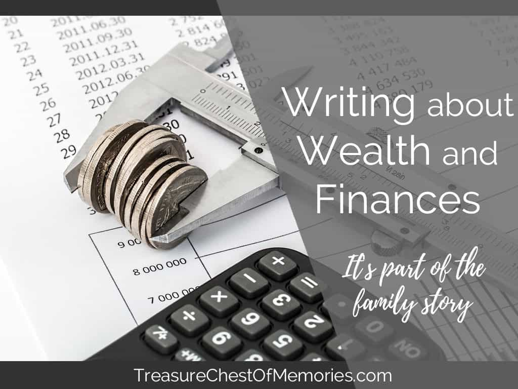 Writing about wealth and finances graphic
