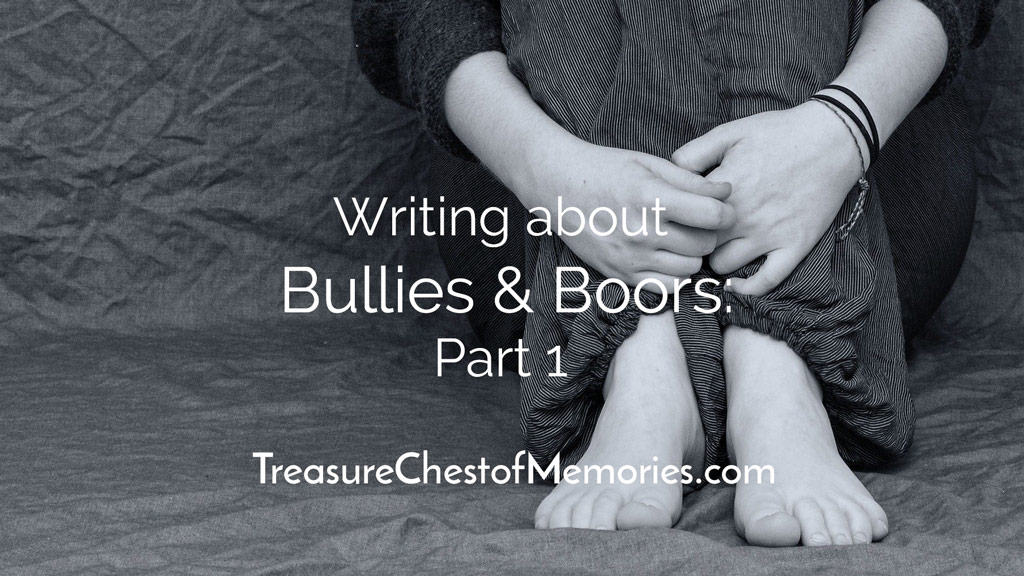 Writing about bullies and Boors Part One Headline graphic