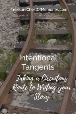 title Intentional tangents over traintracks background