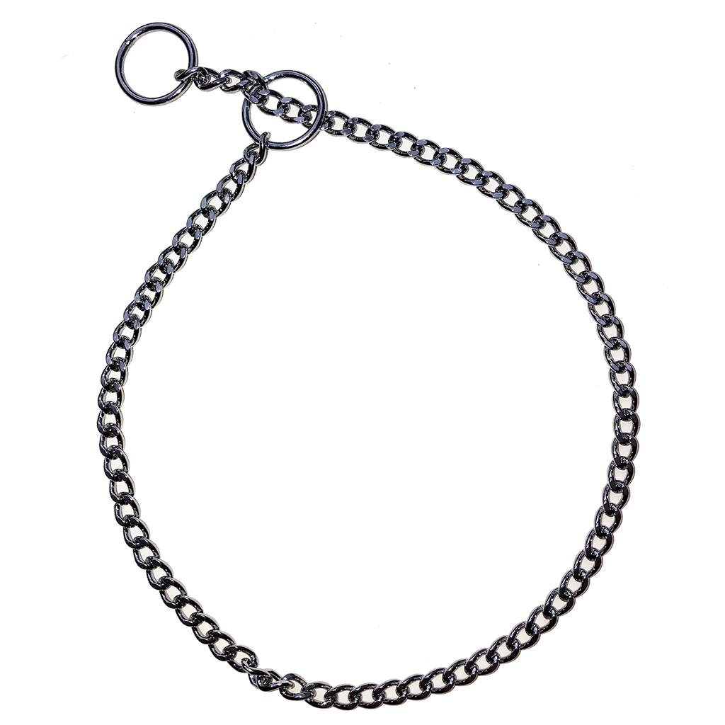 Show Chain Jeweller's Link Filed Choke Collars 1.6mm (fine)