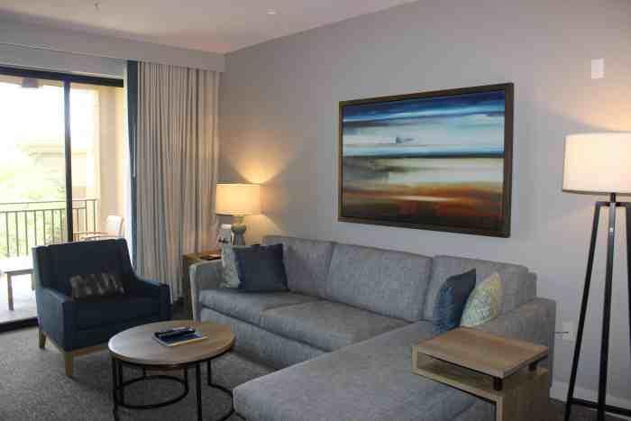 Living room in the Westin Kierland one-bedroom villa