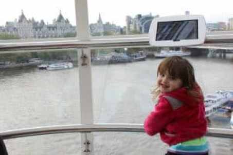 Fun in London with kids - a view from the Eye