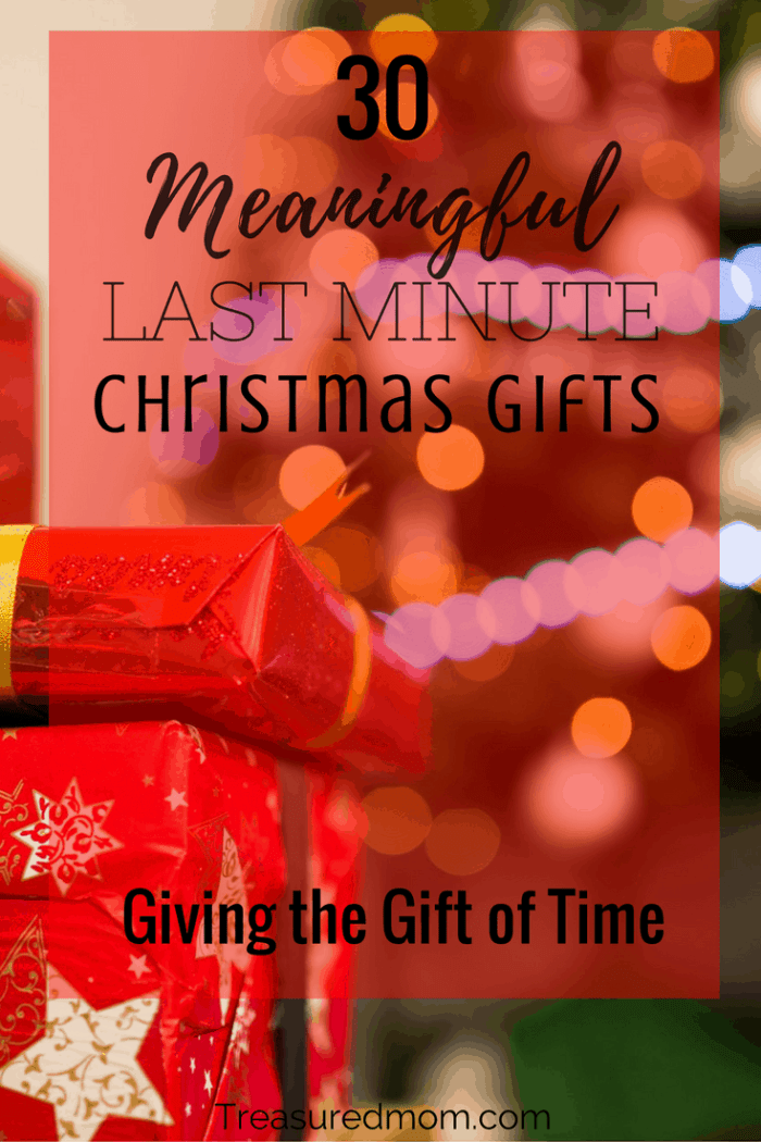 Are you trying to figure out some meaningful Last-Minute Christmas Gift Ideas? Read here to see 30 meaningful gift of time ideas. Use the free printable Gifts of Time Coupons to give your loved ones.