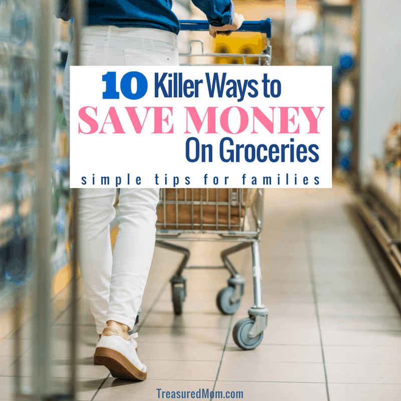 Save Money on Groceries woman grocery shopping