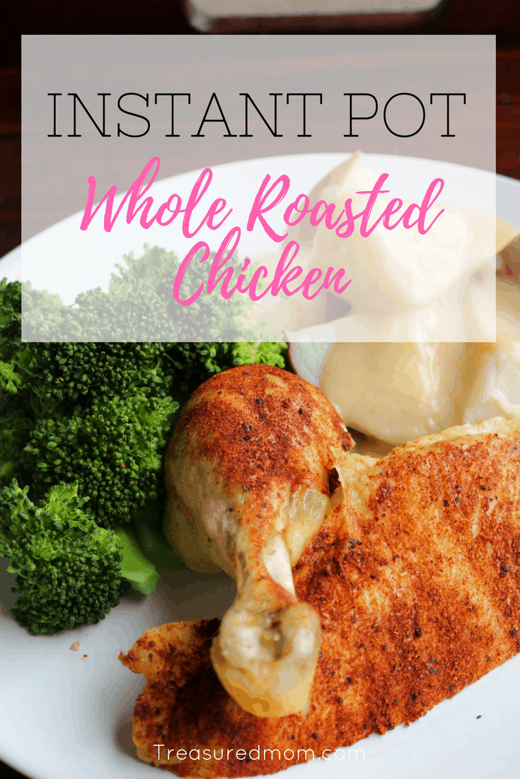 You can make a delicious tender Whole Roasted Chicken in your Instant Pot. Read here to find out how. Bonus gluten-free gravy recipe. Better than Rotisserie Chicken.