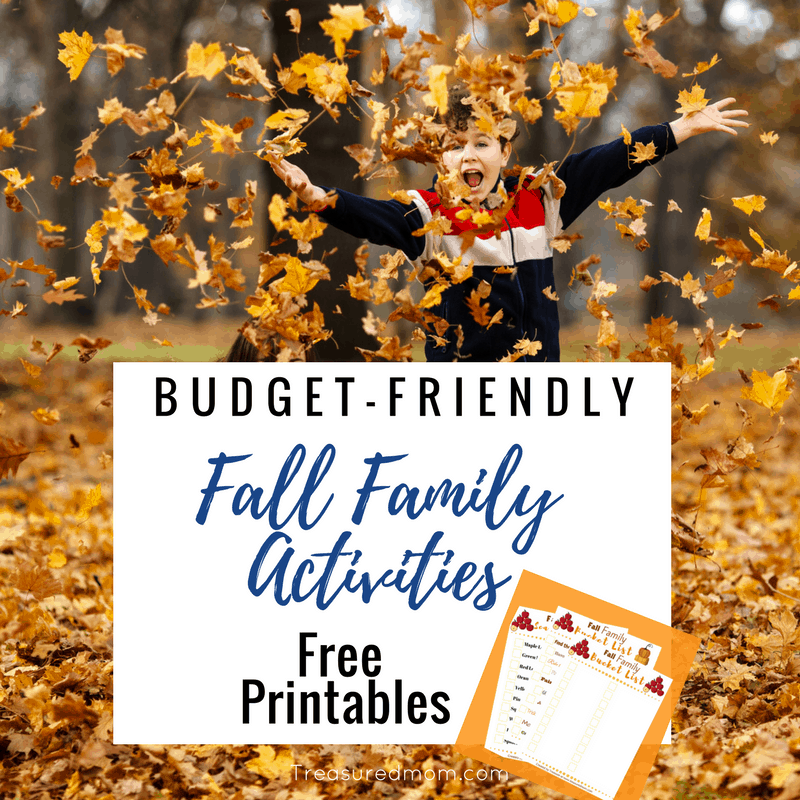 Ready to have some Fall Fun that won't ruin your budget? These are great Budget-Friendly Fall Family Activities. Get Free Printable Fall Bucket List, Fall Scavenger Hunt, Fall Family Activities Printables.