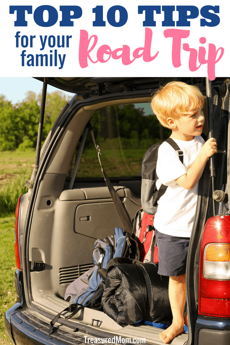 Top Ten Tips for Your Family Road Trip.  In this awesome post you'll find packing lists, food hacks, and clothes organization ideas for your next long car trip.