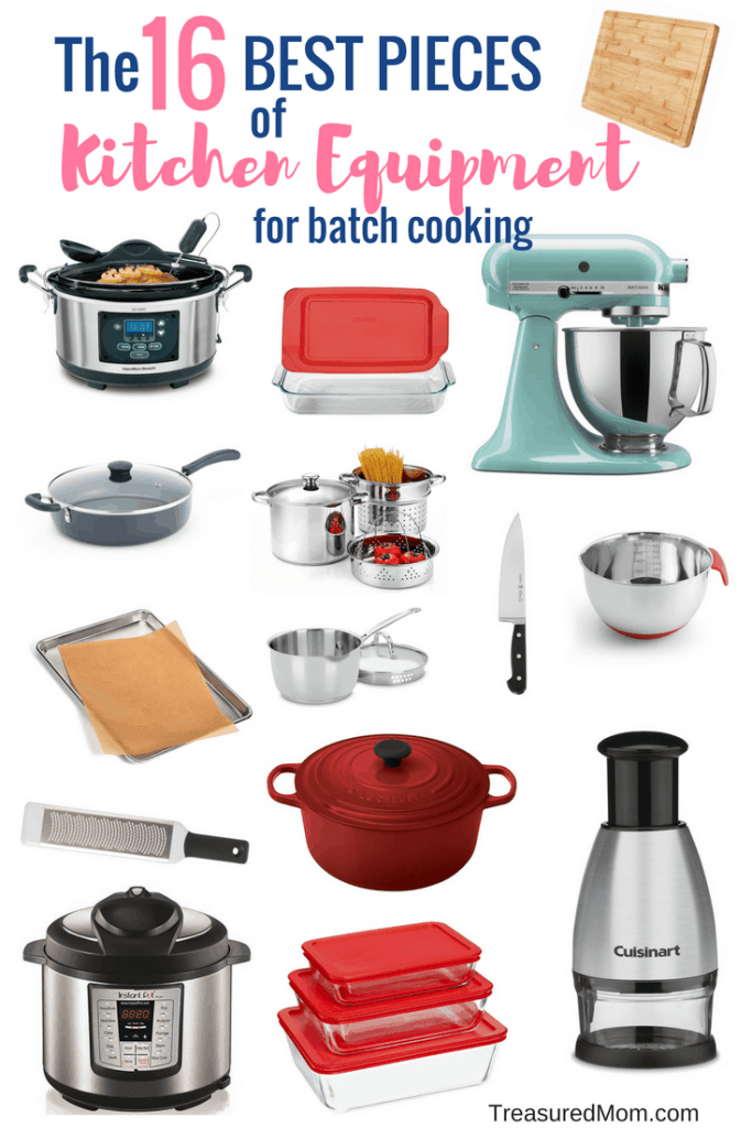 instant pot, slow cooker, kitchen aid, saute pan, le creuset, microplane, food chopper, saucepan, pasta pot, pyrex, glass storage