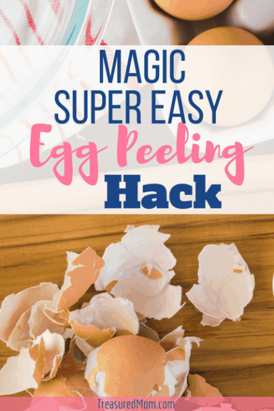 Super easy egg peeling hack hard boiled eggs , cutting board, eggshells