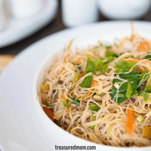 gluten free sesame rice noodles