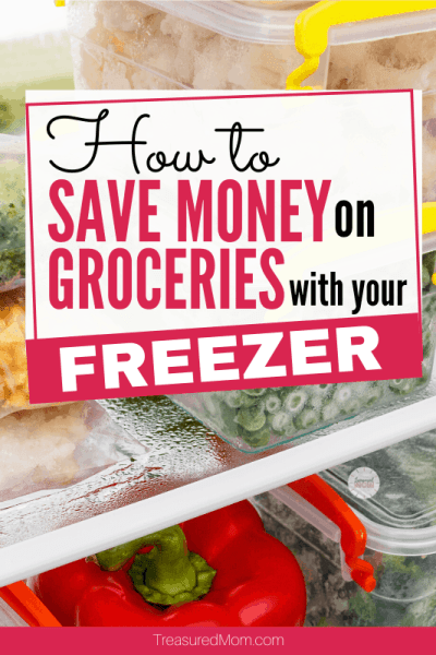 food in freezer for save money on groceries with freezer post