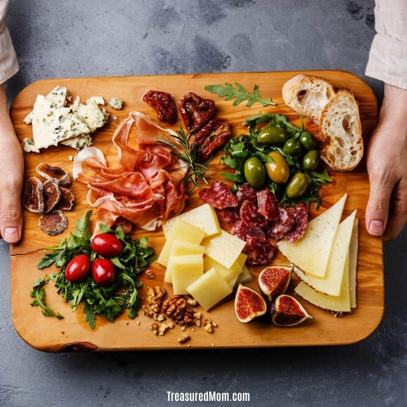 charcuterie platter for How to Stop Eating Out to Save Money