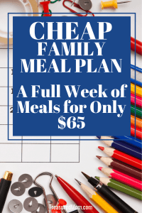 Calendar and desk for Cheap Family Meal Plan