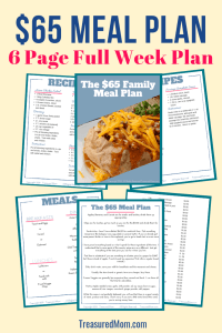 printable download pages for Cheap Family Meal Plan
