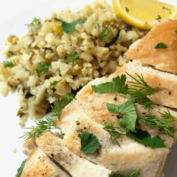 Gobble Dinner Kit delivery meal - chicken, cauliflower couscous