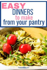 bowtie pesto pasta for easy pantry dinners