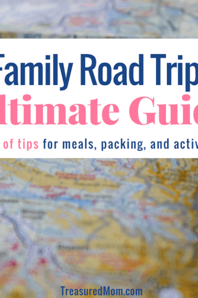 Picture of map with text for Family Road Trip - Ultimate Guide