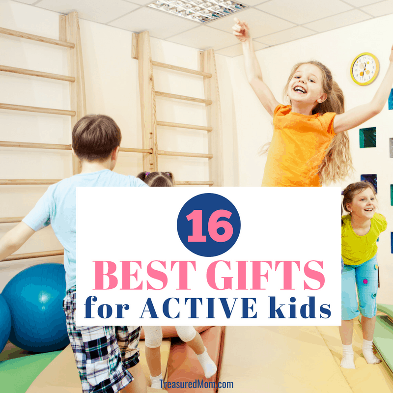 Kids jumping and playing indoors for Best Gifts for Active Kids post