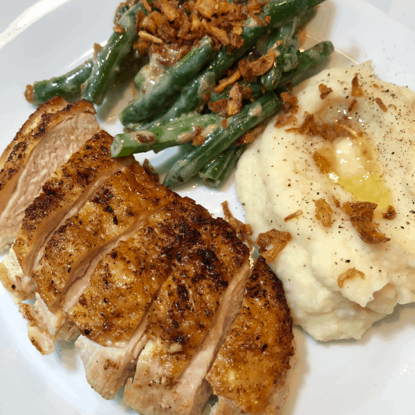 Gobble Dinner Kit delivery meal - chicken, green beans, mashed potatoes