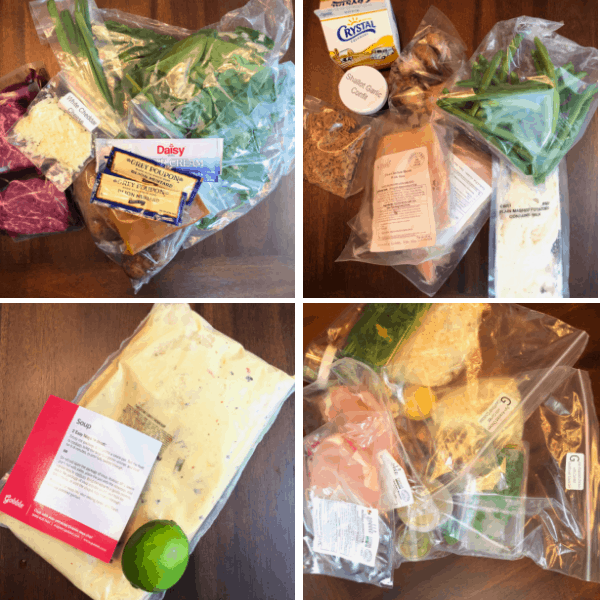 Gobble Review - ingredients packaging for dinner kit delivery