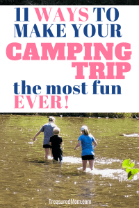 kids playing in stream for How to make camping fun post
