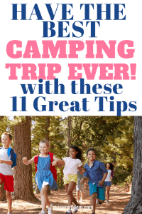 kids having fun in the woods for how to make camping fun post
