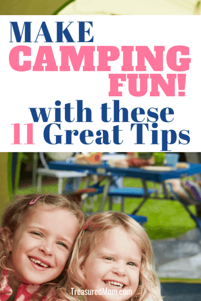 girls in tent for how to make camping fun post