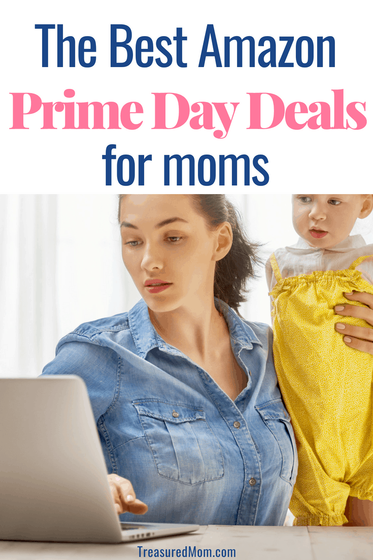 Image of mom and daughter at computer for best amazon prime day deals for moms
