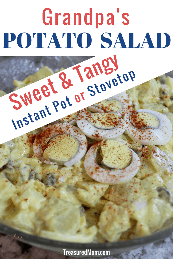 Making this easy Instant Pot recipe will revolutionize your Potato Salad.  It is made with eggs, sweet pickles, miracle whip, and onion.  It's really the Best Ever!