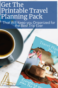Travel Planner on desk with coffee and paperclips