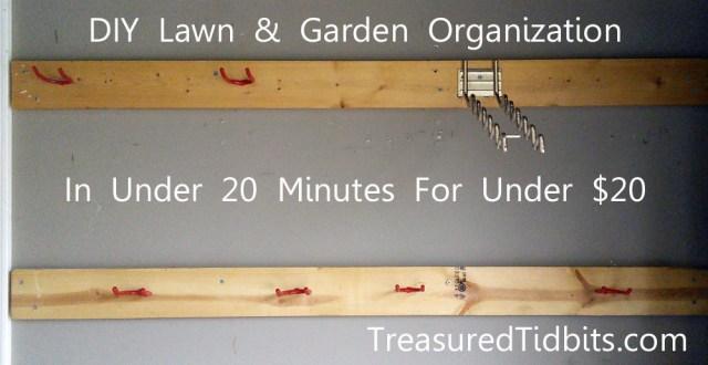 Treasured Tidbits by Tina Make Your Own Yard Tool Organizer in 20 ...