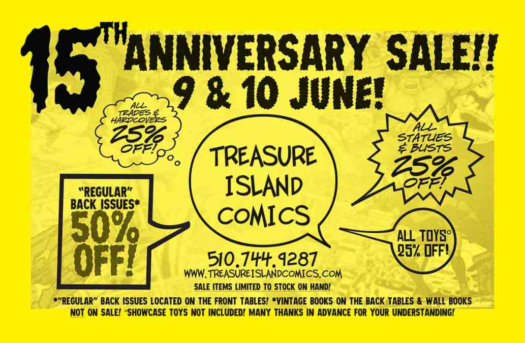 15th Anniversary Sale! 9 & 10 June