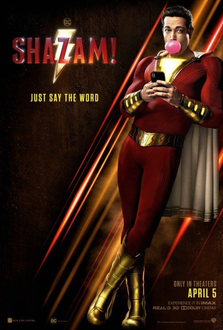 Midnight Movie! Shazam! Thursday 4th April @ 10.30P