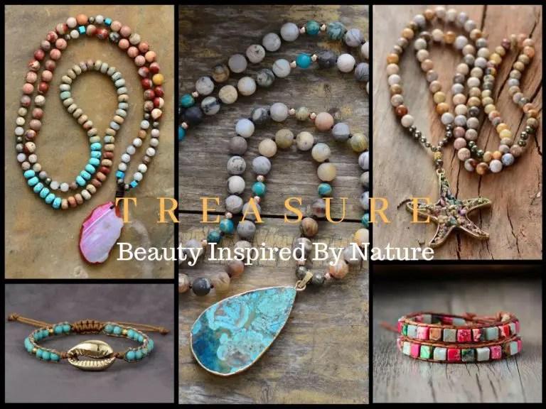 treasure boho hand made jewelry from natural gemstones