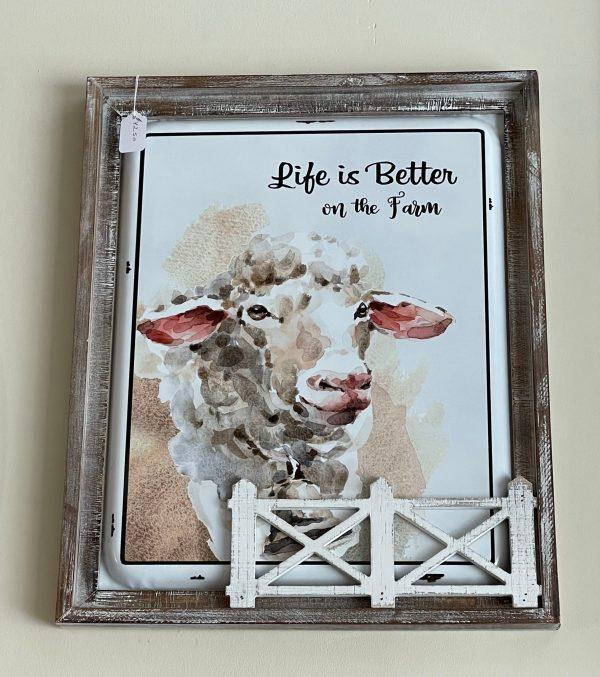 Sheep wall sign
