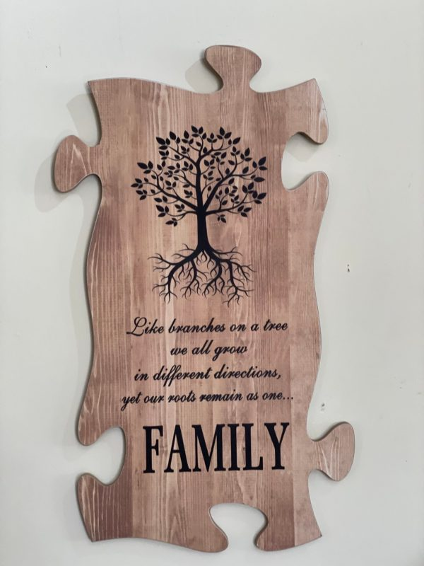 Family Puzzle Sign